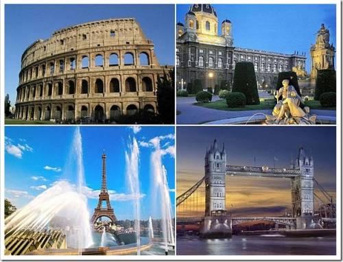 познакомиться с достопримечательностями красивейших городов Европы