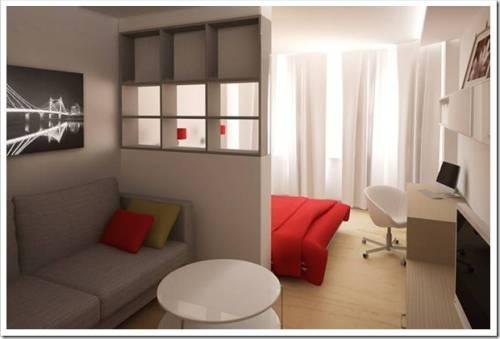Как разделить комнату на две зоны спальня и гостиная