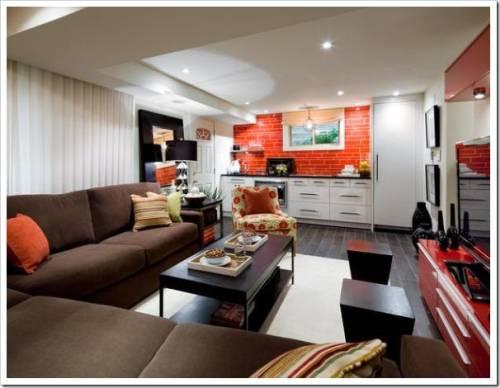 Как разделить комнату на две зоны кухню и гостиную