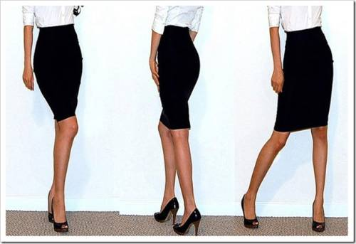 С чем носить черную юбку карандаш?