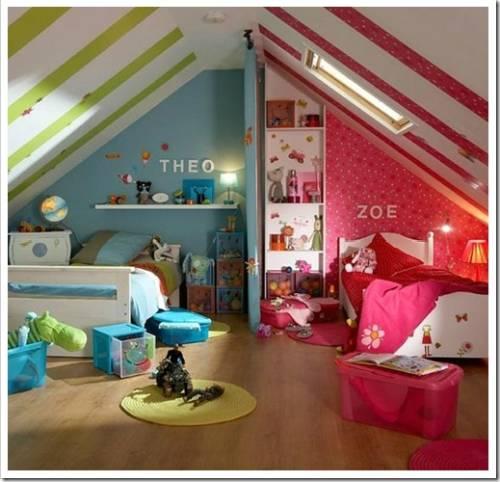 Как разделить комнату на две зоны для мальчика и девочки подростков