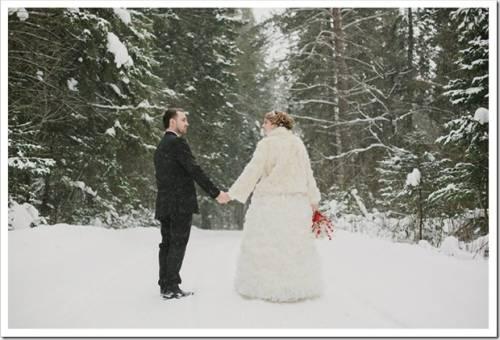 Как недорого отметить свадьбу зимой?