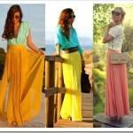 С чем носить длинную юбку весной?