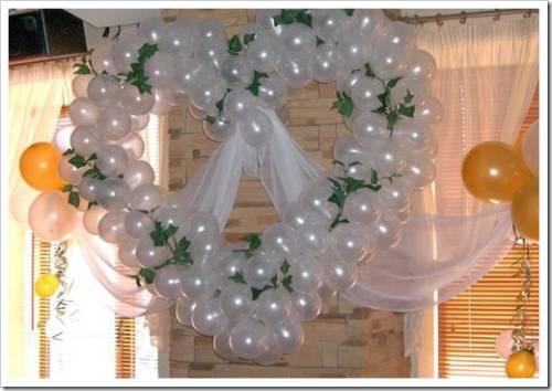 Как украсить зал на свадьбу шарами