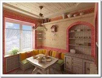 Как оформить «неудобные» места в кухне