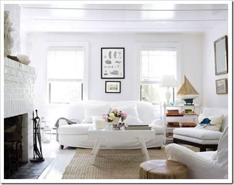 Преимущества белой гостиной
