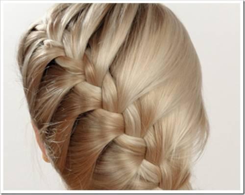 Плетение косы наискосок.