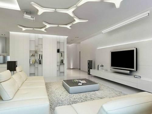 Как оформить интерьер гостиной в белом цвете?