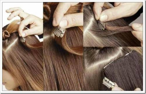 Этапы крепления волос на заколках