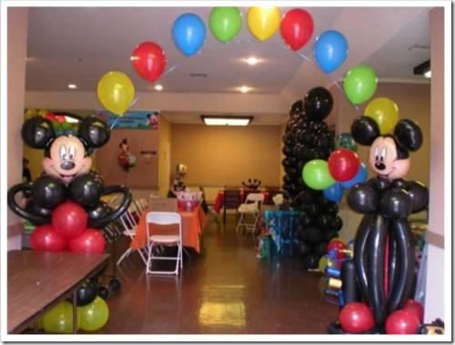 Оформление детского праздника из шаров своими руками