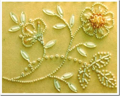 Как вышивать бисером на ткани?