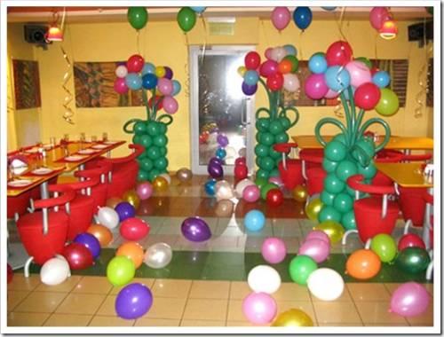 Виды украшений из шаров.