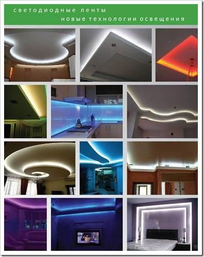Способы применения светодиодной ленты в домашнем интерьере