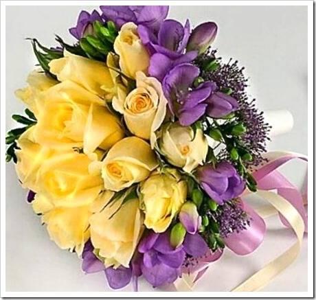 Сделать букет невесты из живых цветов своими руками