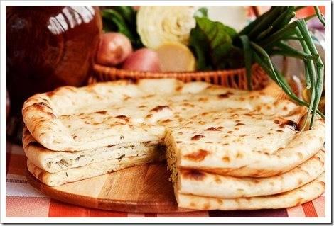 Основные ингредиенты для приготовления осетинских пирогов.