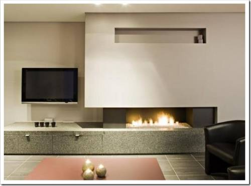 Использование камина в интерьере квартиры