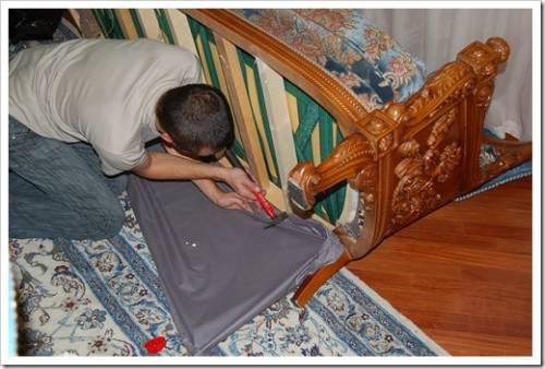 Методика выполнения ремонта мягкой мебели