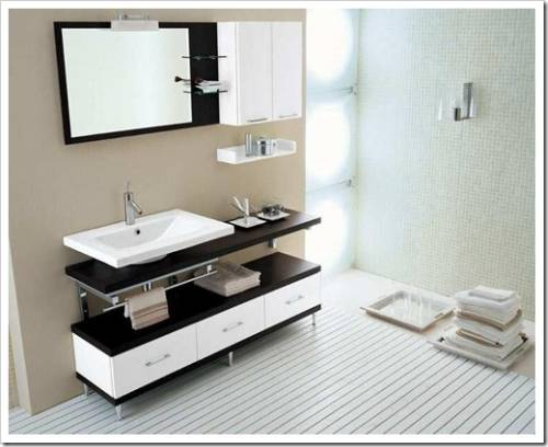 Обстановка ванной комнаты