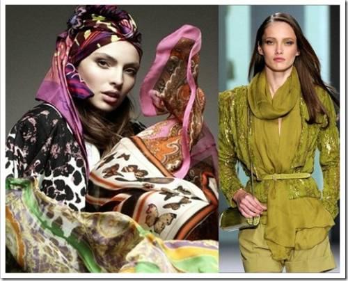Женские платки – модные аксессуары