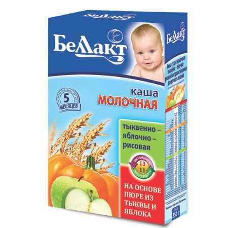 Купить Беллакт Тыквенно-яблочно-рисовая каша молочная с 5 мес., 250 г