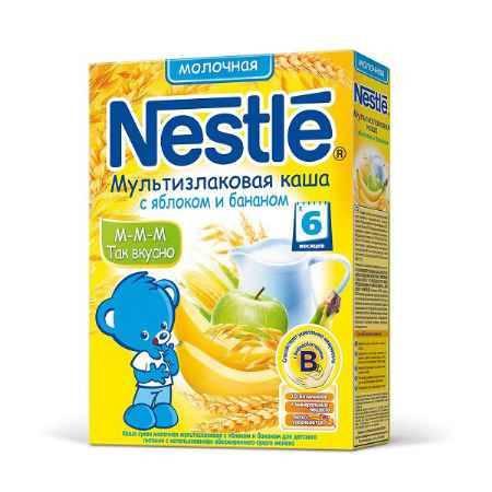 Купить Nestle Мультизлаковая каша с яблоком и бананом с 6 мес. 250 г