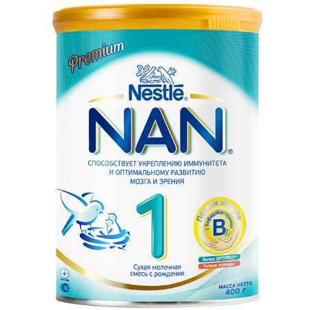 Купить NAN Заменитель Премиум 2 с бифидобактериями с 6 мес. 400 г