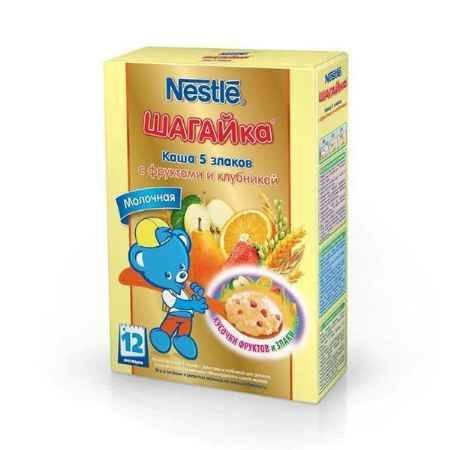 Купить Nestle Каша Шагайка 5 злаков с фруктами и клубникой с 12 мес. 200 г