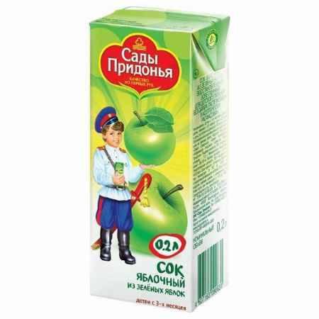 Купить Сады Придонья Сок Яблоко зеленое с 3 мес., 200 мл