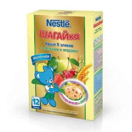 Купить Nestle Каша Шагайка 5 злаков с яблоком и ягодами с 12 мес. 200 г