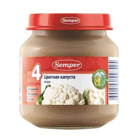 Купить Semper Пюре Цветная капуста с 4 мес., 125 г