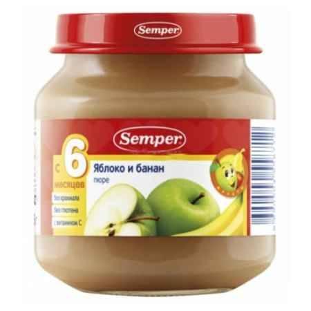 Купить Semper Пюре Яблоко и банан с 6 мес., 125 г