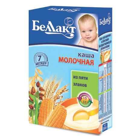 Купить Беллакт Каша 5 злаков молочная с 7 мес., 250 г