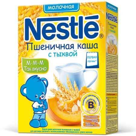 Купить Nestle Пшеничная молочная каша с тыквой с 6 мес. 250 г