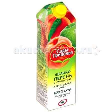Купить Сады Придонья Сок яблоко персик с 3 лет 1 л