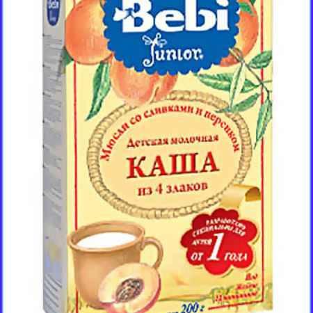 Купить Bebi Молочная каша Junior Мюсли со сливками и персиком с 12 мес. 200 г