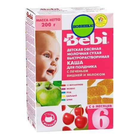 Купить Bebi Овсяная молочная каша с печеньем вишней и яблоком 200 гр