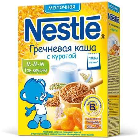 Купить Nestle Гречневая молочная каша с курагой с 5 мес. 250 г
