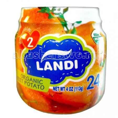 Купить Landi Пюре Organic Сладкий картофель с 5 мес. 113 г