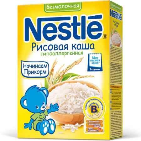 Купить Nestle Рисовая гипоаллергенная с бифидобактериями с витаминами и минералами 4 мес. 200 г