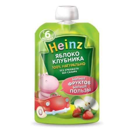 Купить Heinz Пюре яблоко клубника с 6 мес. 100 г