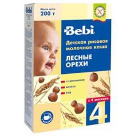 Купить Bebi Рисовая молочная каша Лесные орехи с 4 мес. 200 г