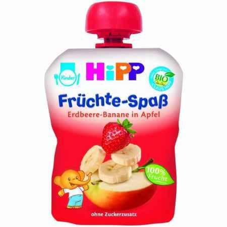 Купить Hipp Пюре Яблоко, клубника, банан с 6 мес., 90 г