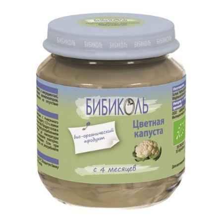 Купить Бибиколь Органическое пюре Цветная капуста с 4 мес. 125 г