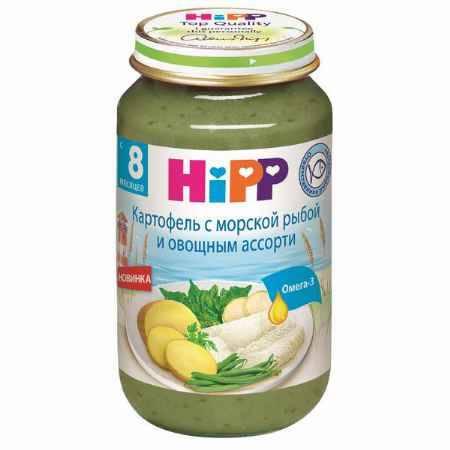 Купить Hipp Пюре Картофель с морской рыбой и овощным ассорти с 8 мес., 220 г