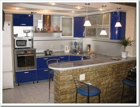 Зонирование кухонного пространства