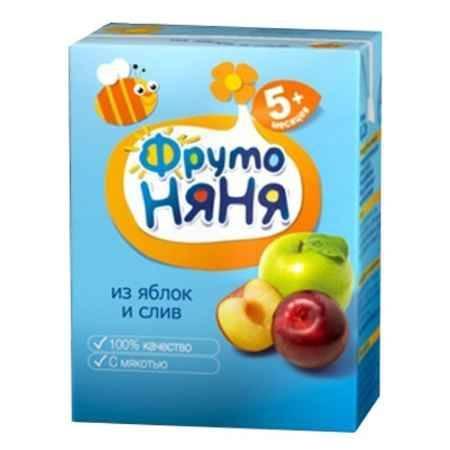 Купить ФрутоНяня Нектар из яблок и слив с мякотью с 5 мес., 200 мл (тетра пак)