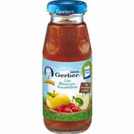 Купить Gerber Сок Яблочно-вишневый с 5 мес., 175 мл