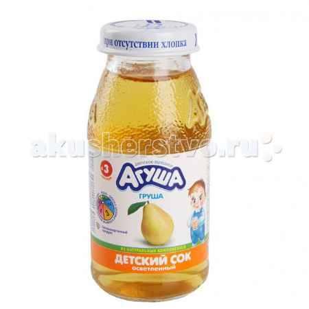 Купить Агуша Сок осветлённый без сахара Груша 150 мл