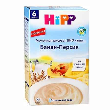 Купить Hipp Молочная рисовая с персиком и бананом Био с 6 мес., 250 гр.