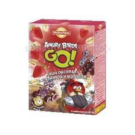 Купить Myllyn Paras Angry Birds Каша овсяная молочная с клубникой 200 г